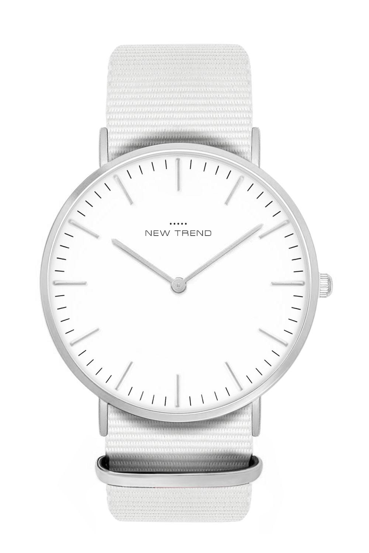 New Trend Unisex Armbanduhr Damen-Uhr Herren-Uhr, Analog Display, Quarzwerk, Nylon-Armband, Chronograph-Optik, mit Dornschließe